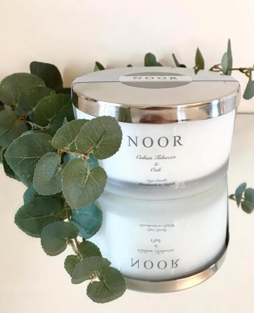 fragranced Candle Silver Range from The Noor Company Norfolk