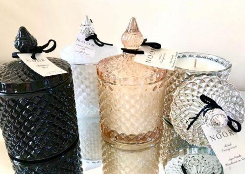 Geo Jars for fragranced candles handmade in norfolk