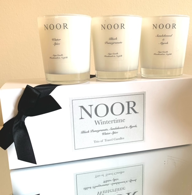 Luxury Wintertime candles in gift box